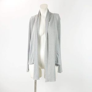 Soft Surroundings Gray Open Front Cardigan